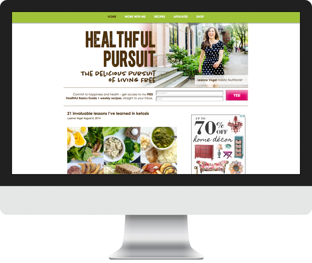 Healthful Pursuit Website Development