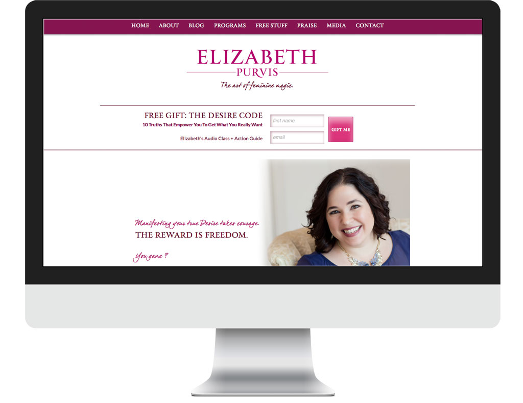 Elizabeth Purvis Website