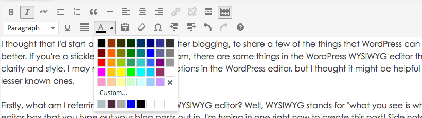 Create Your Brand's Colour Palette in WYSIWYG Editor
